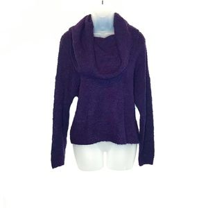 Kimchi Blue eggplant purple wool cowl neck sweater